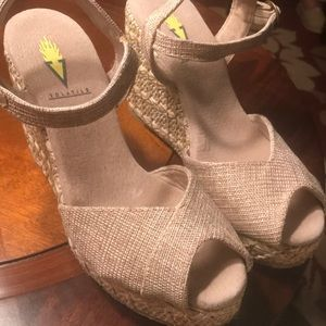 Volatile Natural Color Beige Wedge - Size 6